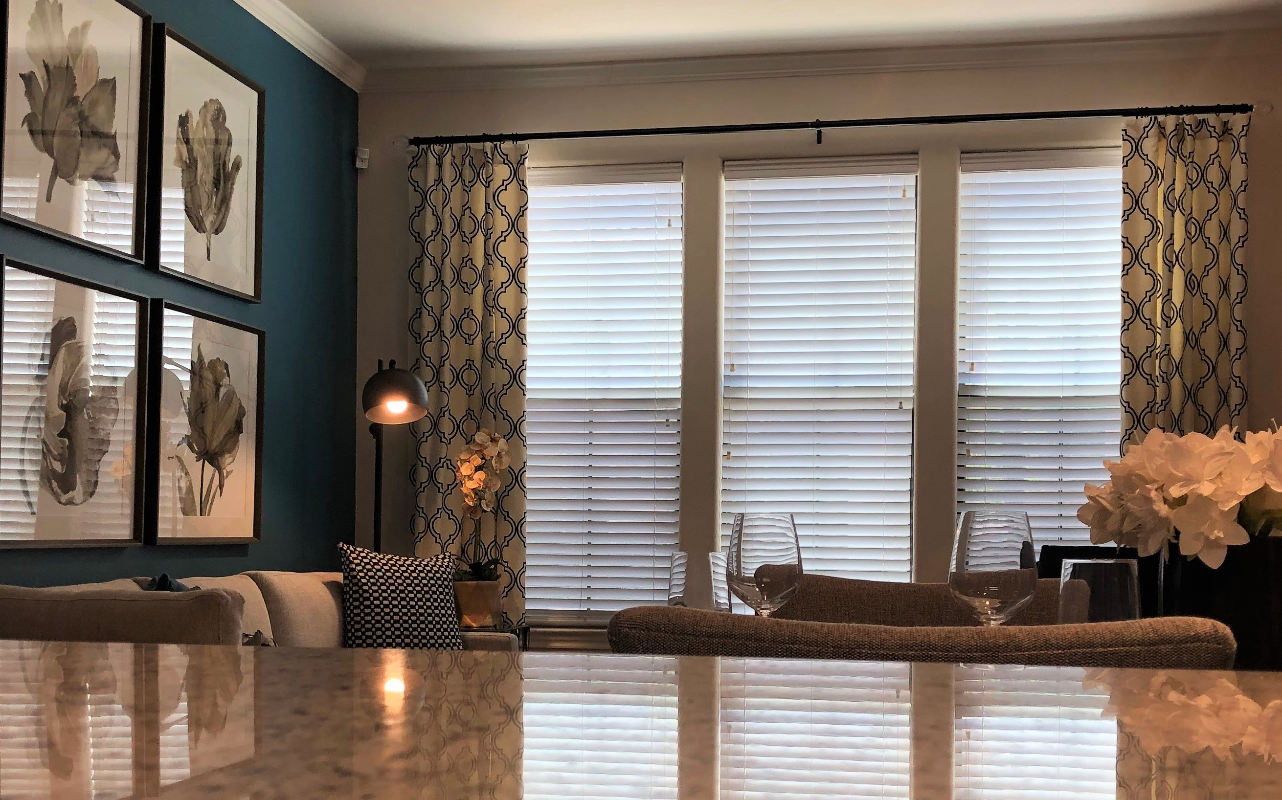 """2"""" Cordless Faux Wood Blinds"""